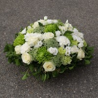 Coussin funéraire blanc-vert